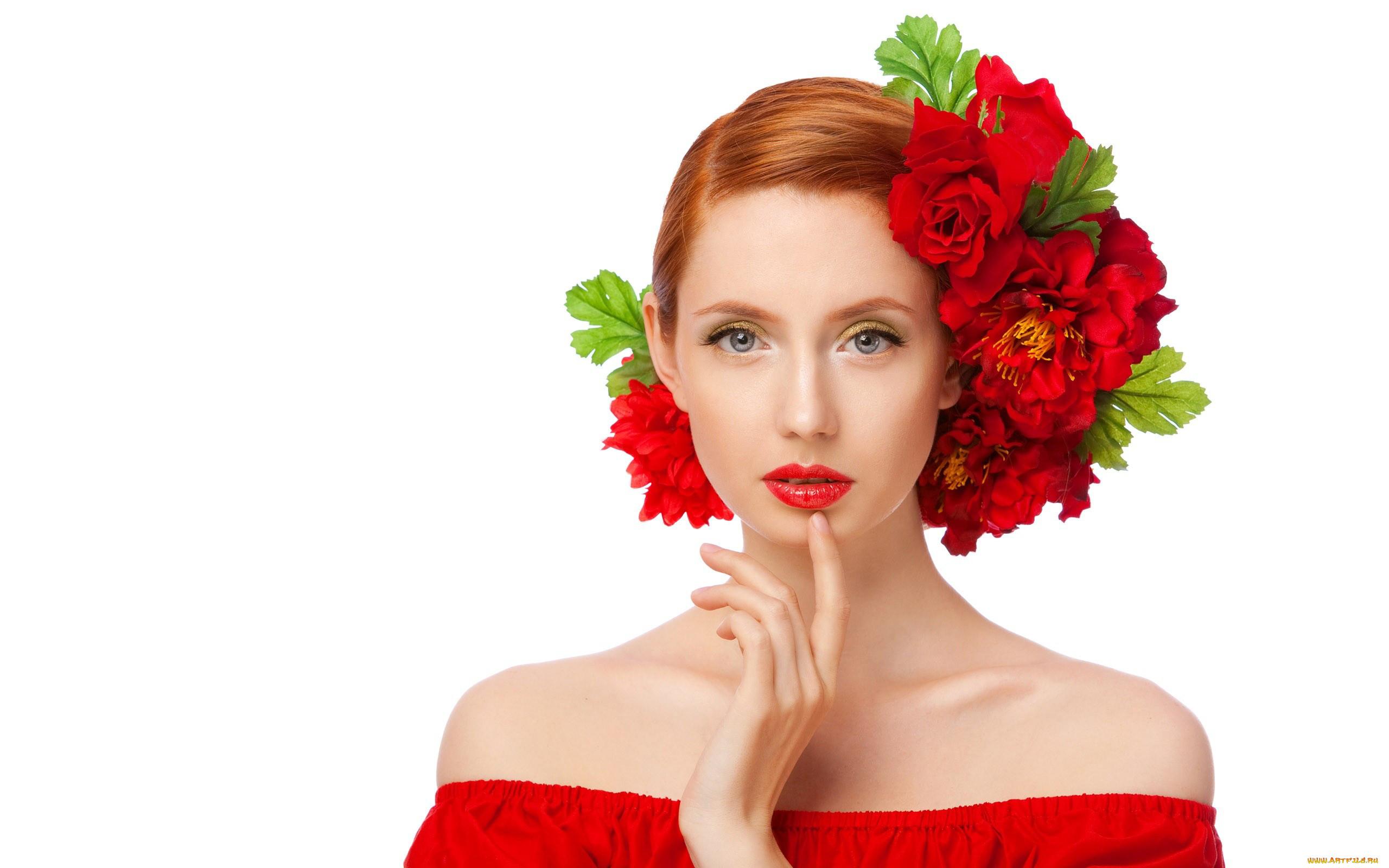 Картинки лицо женщины в цветах
